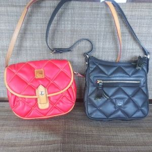 2 Dooney and Bourke Quilted Crossbody Purses